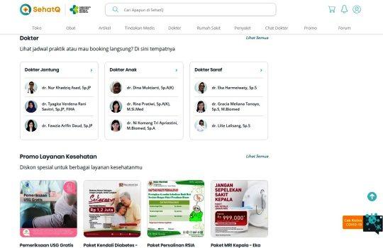 Cara Booking Dokter Melalui Aplikasi SehatQ.com