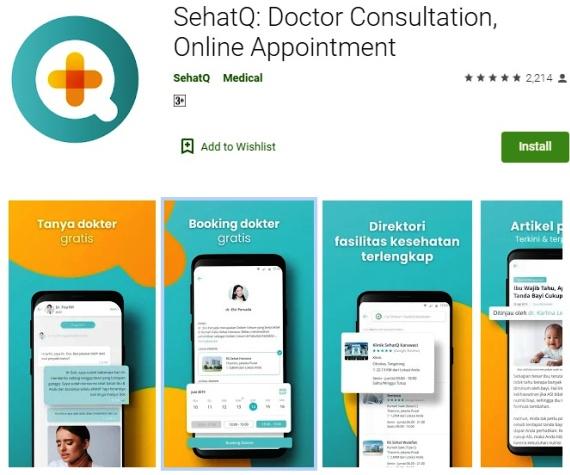 Fitur Booking Dokter Aplikasi SehatQ.com